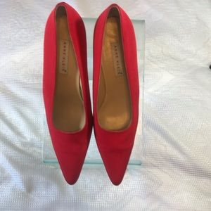 New Anne Klein Red Satin Heels 👠